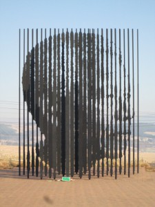 Mandela monument at the site where he was captured