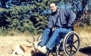 Peter Truter with Springbuck Ram - May 1996