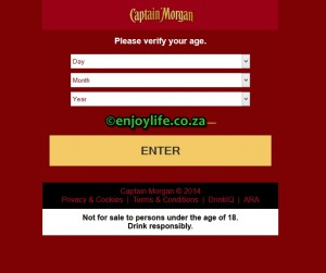 Captain Morgan on EnjoyLife.co.za