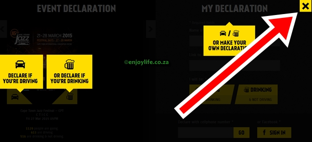 Declare to Drive Dry exit on EnjoyLife.co.za