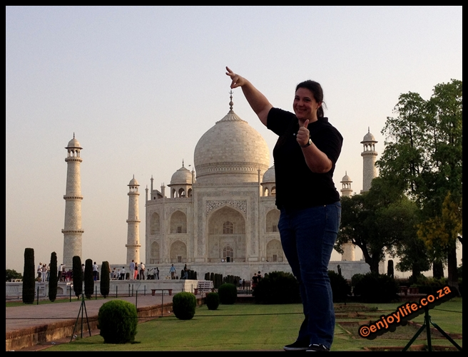 Visting the Taj Mahal
